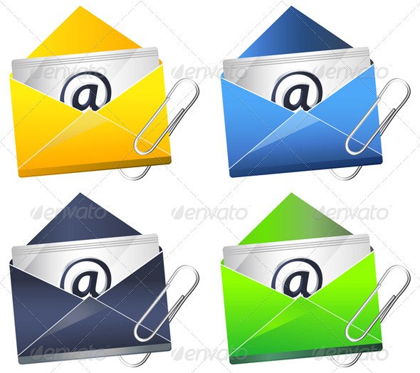 Email Attachment - Illustration - Communications Technology