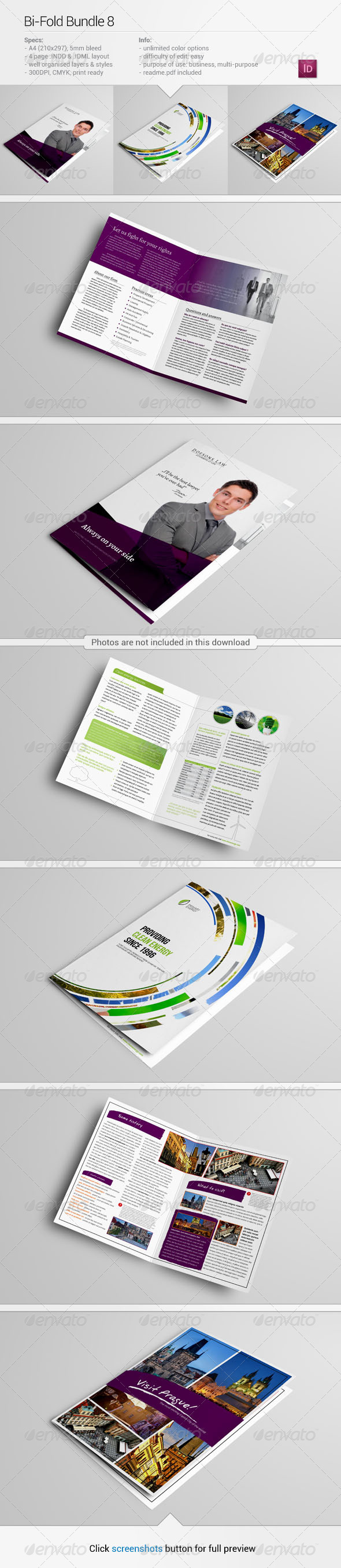 Bi-Fold Bundle 8 - Corporate Brochures