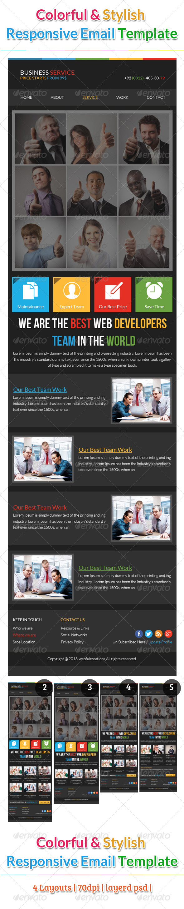 Webful Business Email Template - E-newsletters Web Elements
