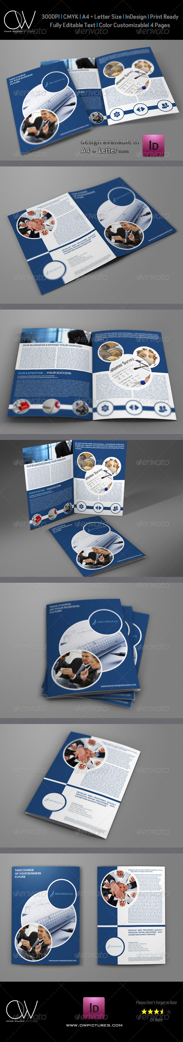 Company Brochure Bi-Fold Template Vol.10 - Corporate Brochures