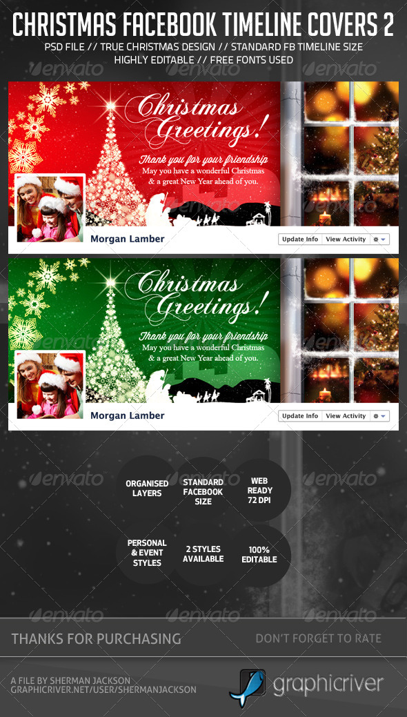 Christmas/Holiday Facebook Timeline Cover V.2 - Facebook Timeline Covers Social Media