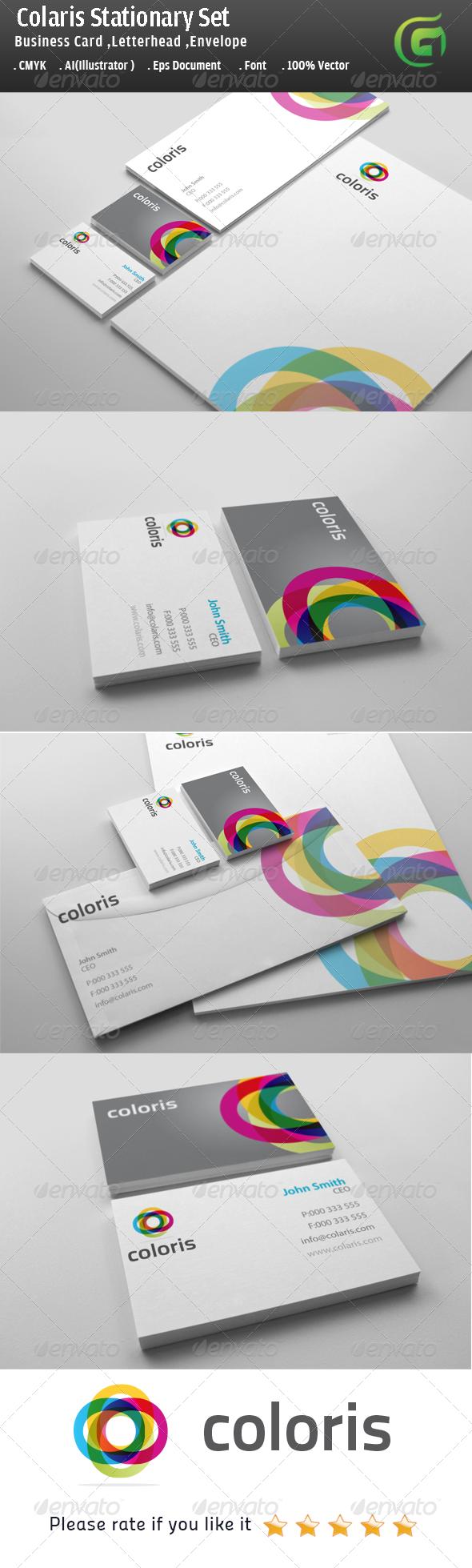 Colaris Stationary Design - Corporate Business Cards