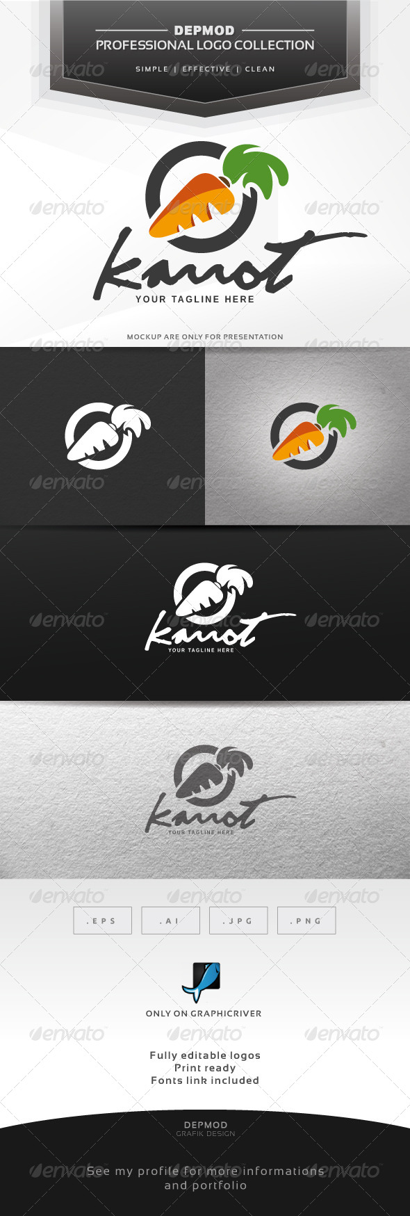 Karrot Logo - Food Logo Templates