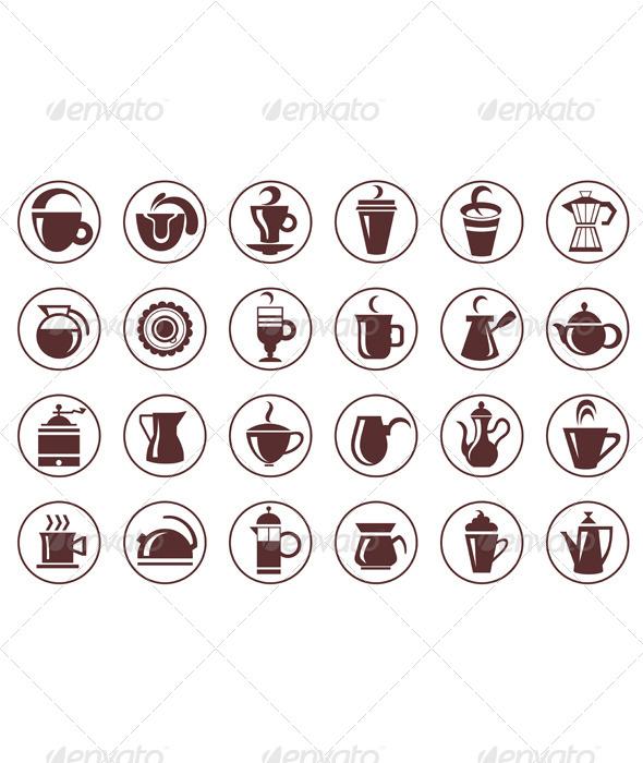 Coffee Symbols - Food Objects