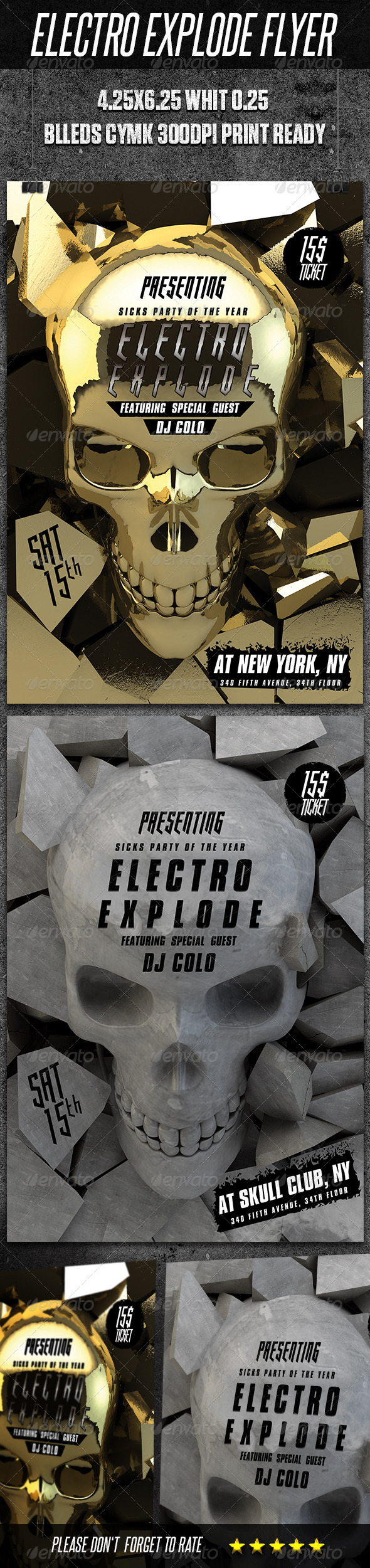 Modern Electro Flyer - Clubs & Parties Events