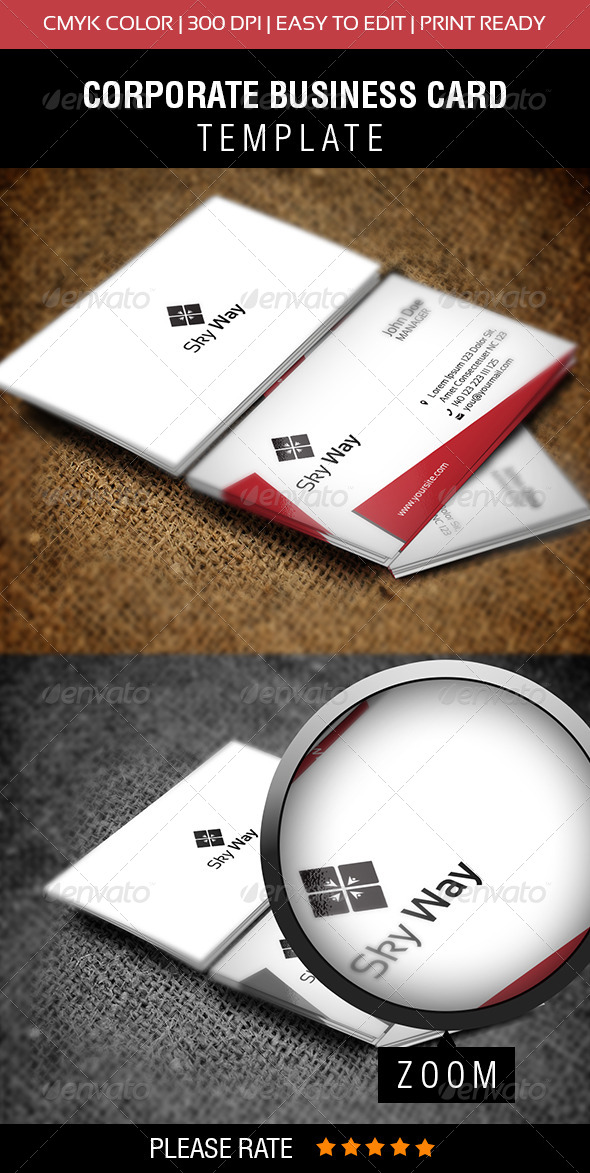 Sky Way Business Card - Corporate Business Cards