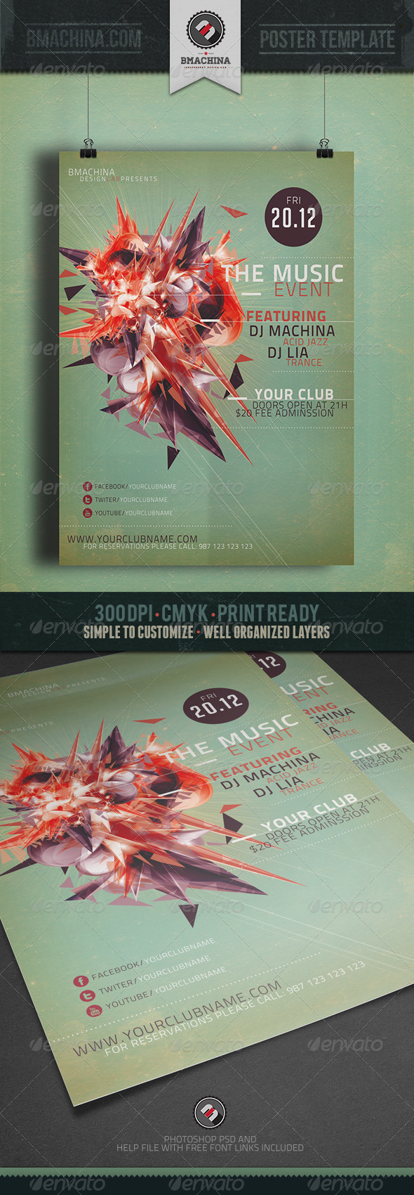 The Music Event Flyer Template - Clubs & Parties Events