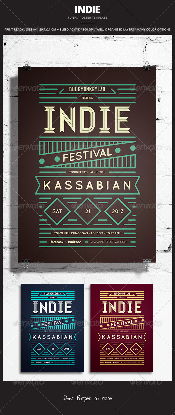 Indie Flyer / Poster 14 - Events Flyers