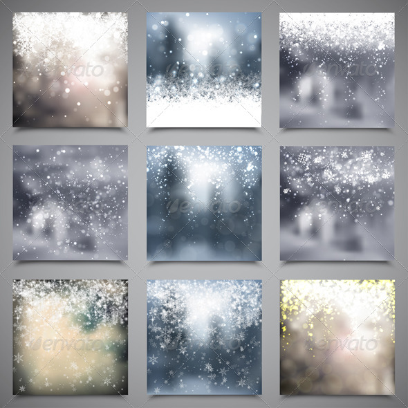 Christmas Blur Backgrounds - Christmas Seasons/Holidays