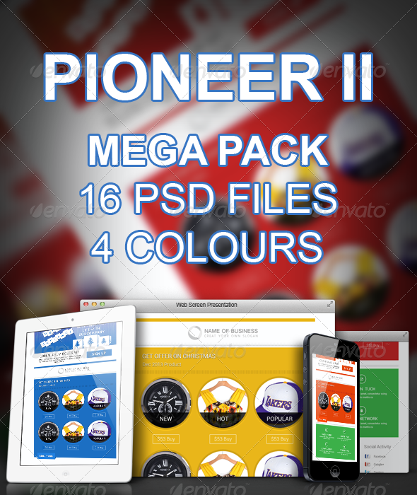 Pioneer II - E-newsletters Web Elements