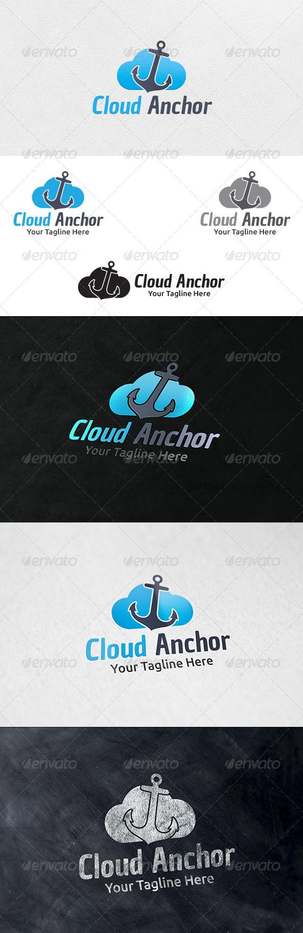 Cloud Anchor - Logo Template - Nature Logo Templates