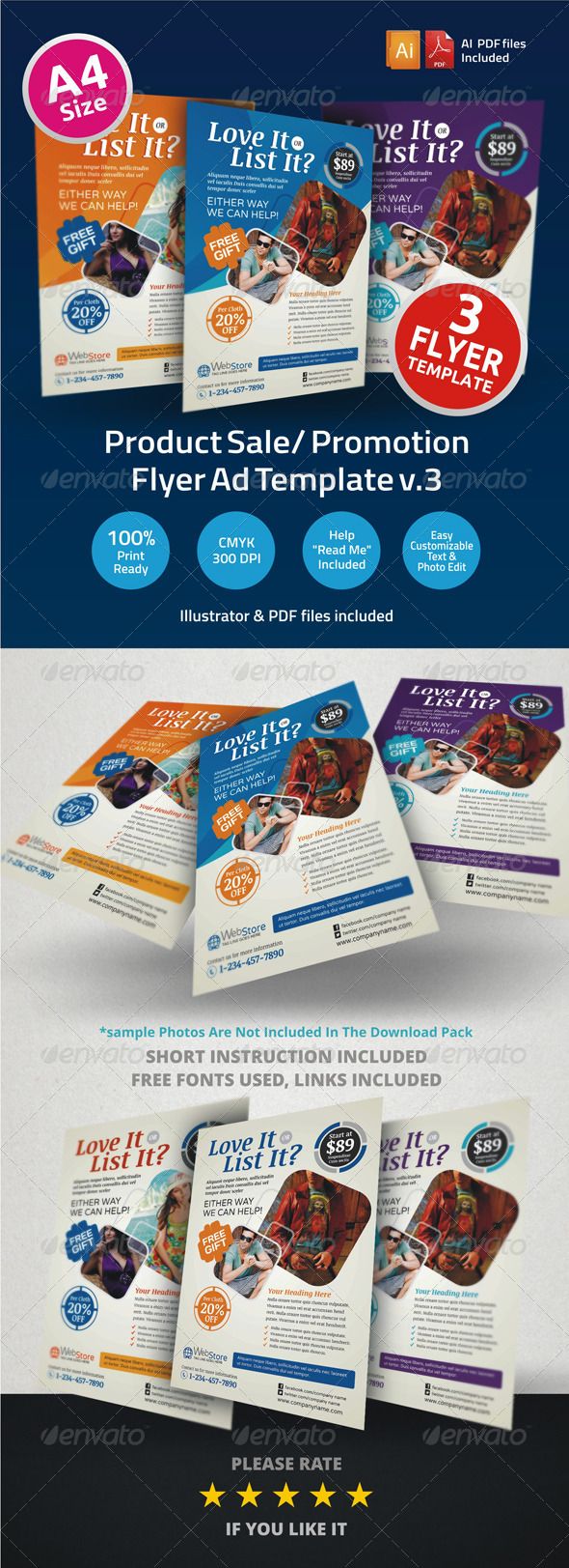 Product Sale Promotion Flyer Ad v3 - Corporate Flyers