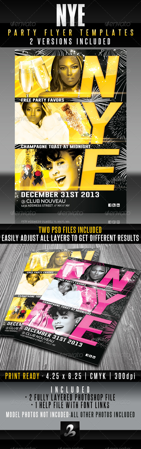 NYE Party Flyer Templates - Holidays Events