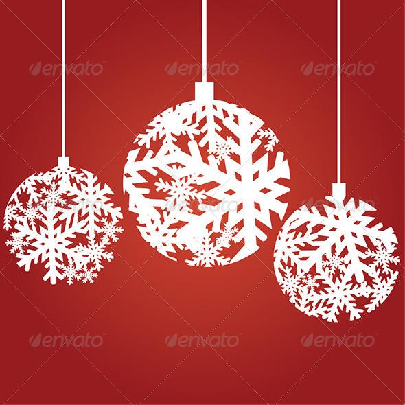 Snowflake Christmas Ornaments - Christmas Seasons/Holidays