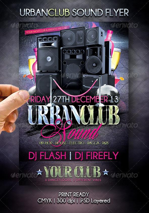 Urban Club Sound Flyer - Events Flyers