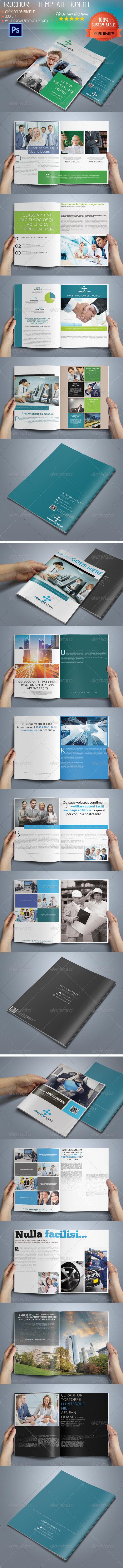 10 Pages Business Brochure Bundle - Corporate Brochures