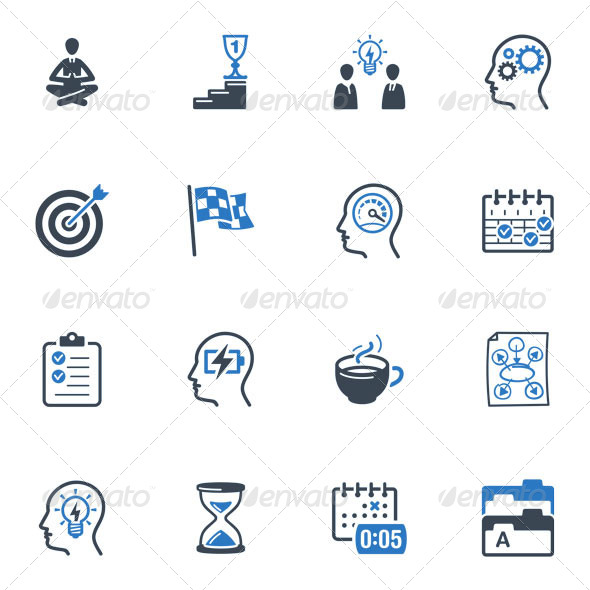 Productive at Work Icons - Blue Series - Web Icons