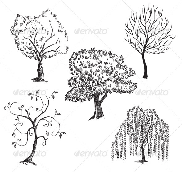 Vector Trees Collection - Flowers & Plants Nature