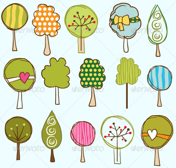Trees Seamless Pattern - Patterns Decorative