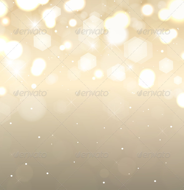 Golden Holiday Background - Christmas Seasons/Holidays