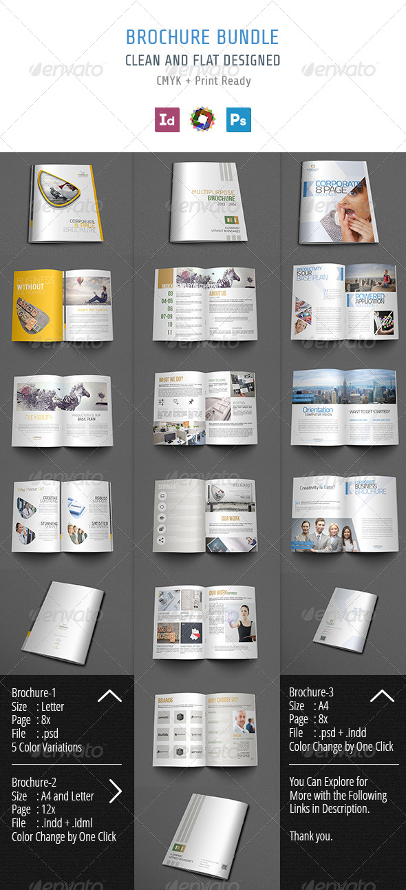 Brochure Bundle - Brochures Print Templates