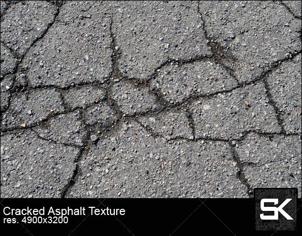 Cracked Asphalt - Stone Textures