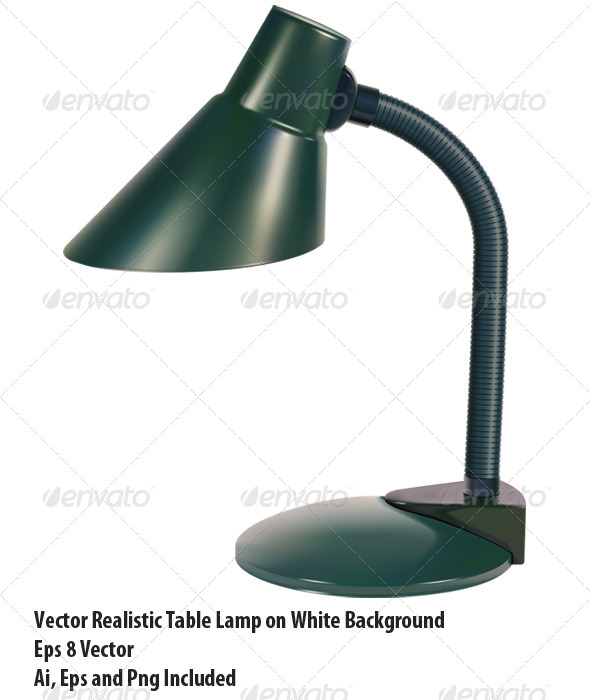 Table Lamp - Objects Vectors