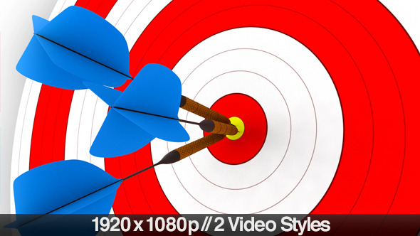darts hitting a target bullseye 2 styles by butlerm videohive