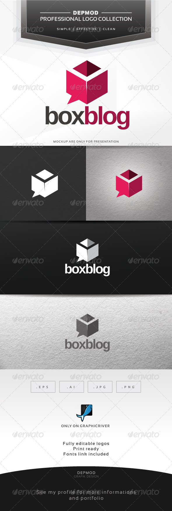 Box Blog Logo - Abstract Logo Templates
