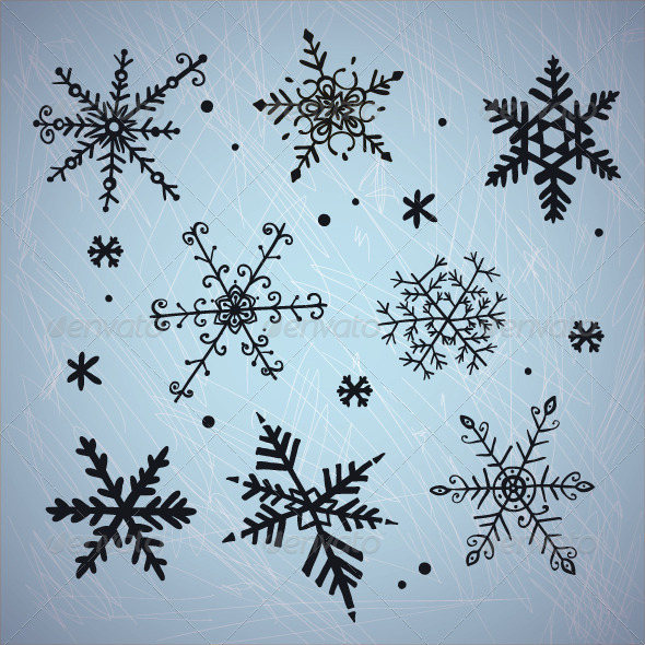 Doodle Snowflakes - Seasons/Holidays Conceptual