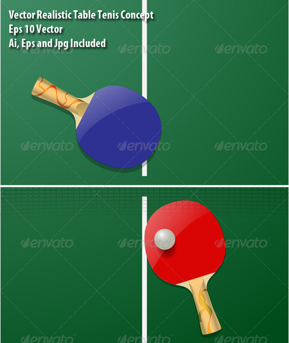 Table Tennis - Sports/Activity Conceptual