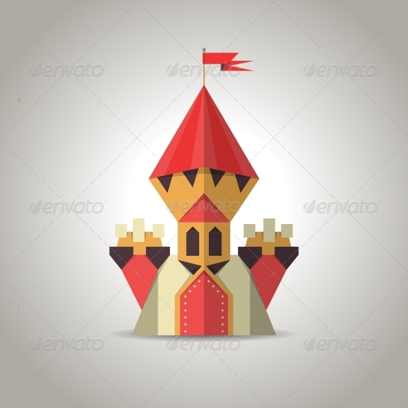Origami Castle from Folded Paper - Buildings Objects