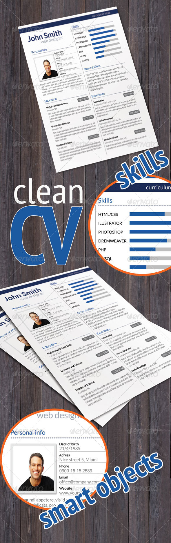 Clean CV - Resumes Stationery