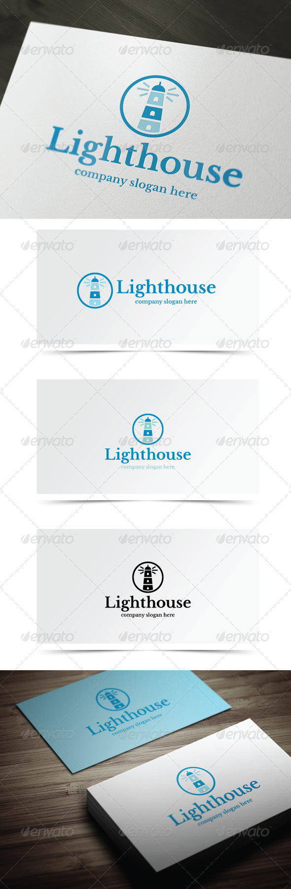 Lighthouse - Buildings Logo Templates