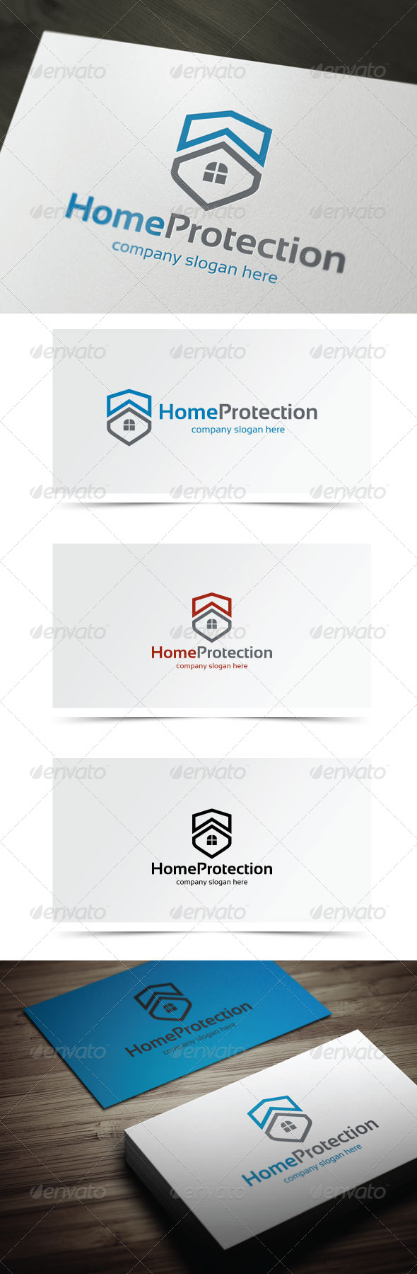 Home Protection - Symbols Logo Templates