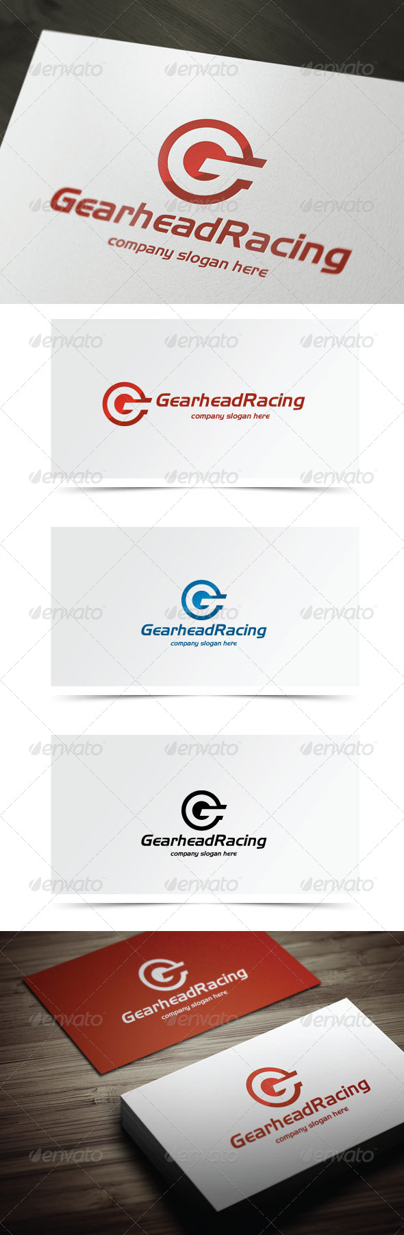 Gearhead Racing - Letters Logo Templates