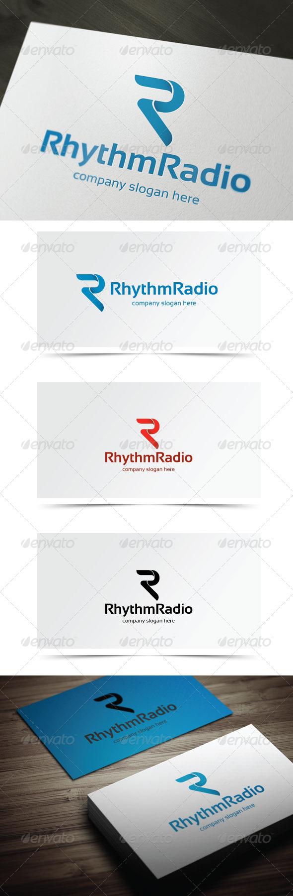Rhythm Radio - Letters Logo Templates