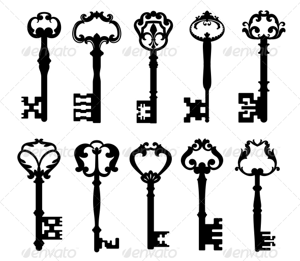 Vintage Keys - Decorative Symbols Decorative