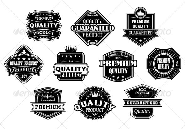 Labels Set in Vintage Western Style - Web Elements Vectors