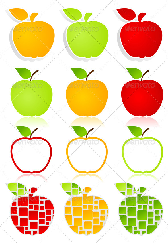 Apple icons2 - Food Objects