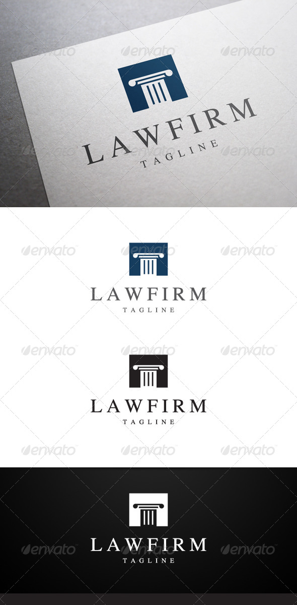 Law Firm Logo - Objects Logo Templates