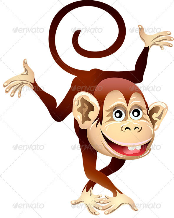 Cheerful Monkey - Animals Characters