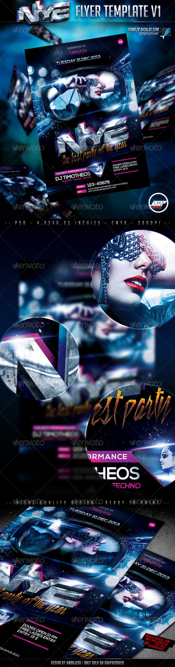 New Year Eve Flyer Template V1 - Clubs & Parties Events