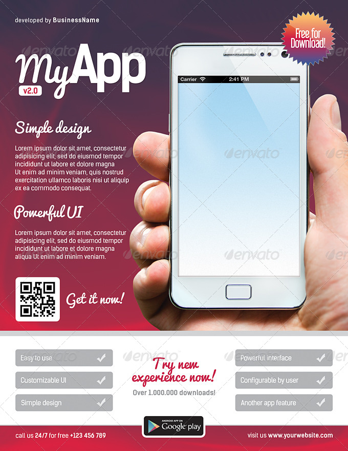 mobile app flyers 9 by level studio graphicriver