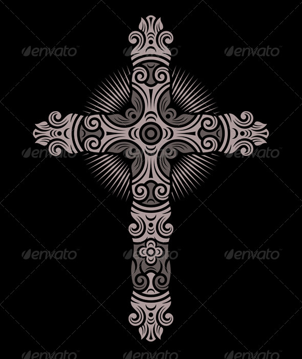 Antique Cross Ornament - Religion Conceptual