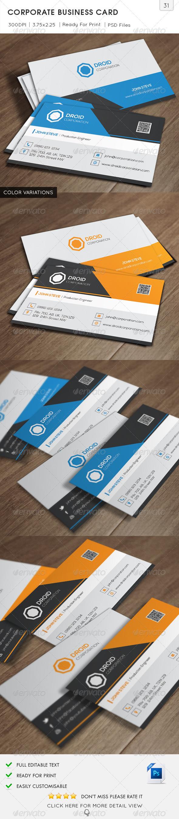 Corporate Business Card v31 - Corporate Business Cards