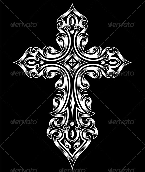 Gothic Cross - Religion Conceptual