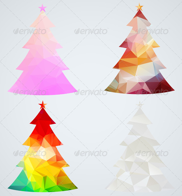 Set of Christmas Trees - Christmas Seasons/Holidays