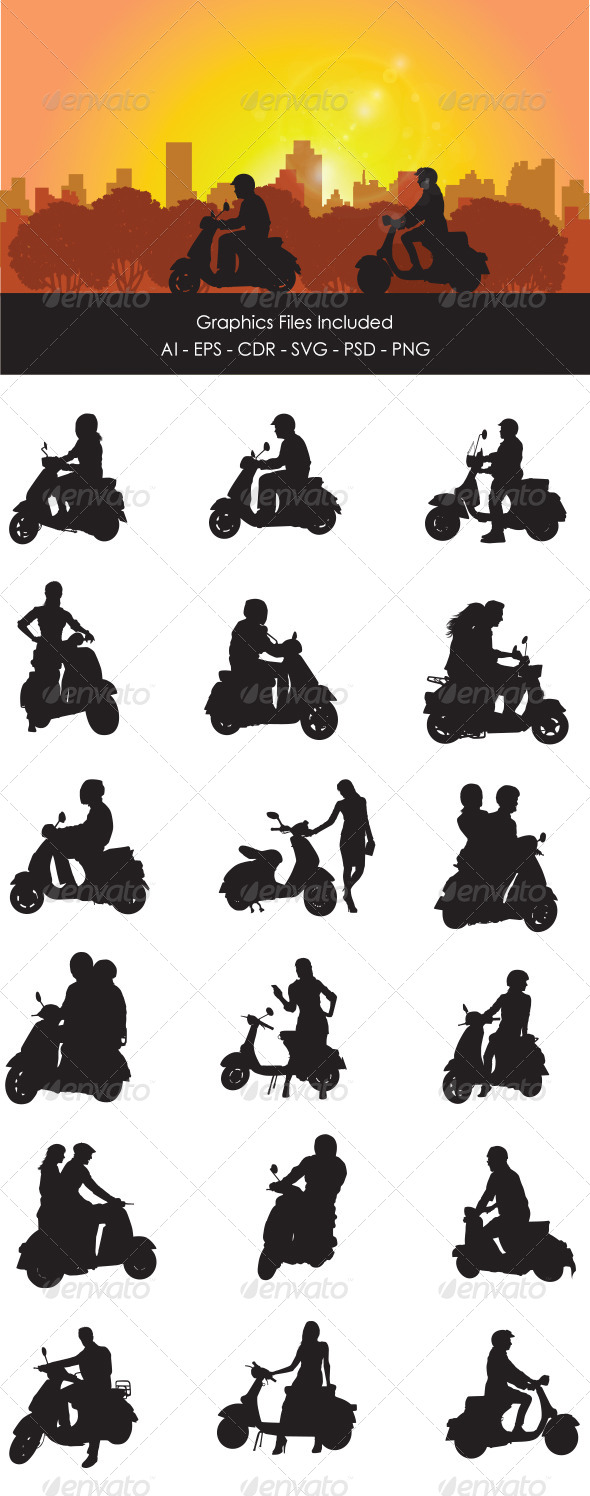 Scooter Rider - People Characters