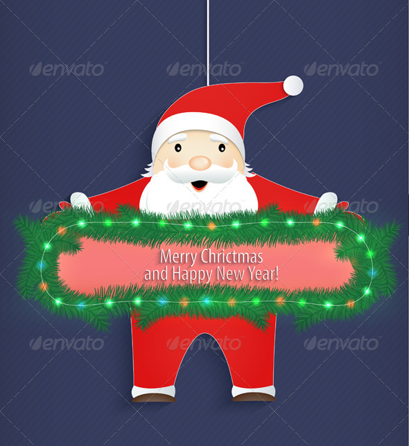 Santa Claus with a Congratulation - Christmas Seasons/Holidays